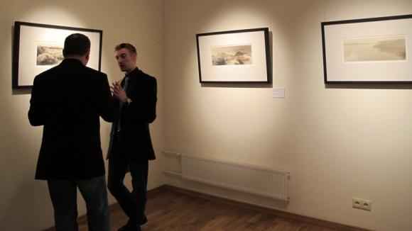 на выставке Юргиса Левдика-Занаревского